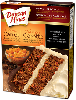 Duncan Hines Carrot Cake Nutritional Information
