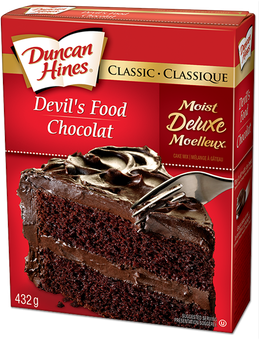 devil s food cake mix product s food cake mix duncan hines canada 174 3510