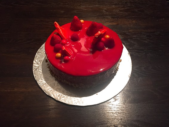 Red Velvet Cake With White Chocolate Chips