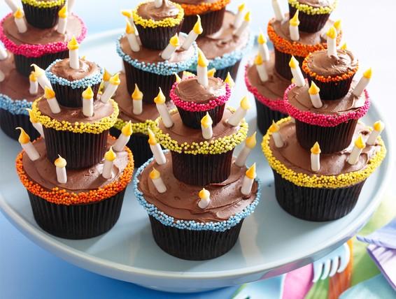 Recipe Chocolate Birthday Cupcakes