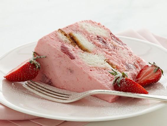 Angel Strawberry Bavarian Cake Recipe
