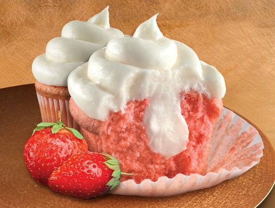 Duncan Hines Strawberry Cream Cheese Cupcake Into Cake