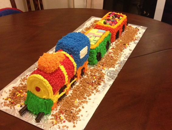 Recipe Train Birthday Cake