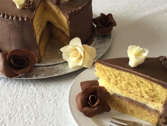Boston Cream Pie Recipe Made With Box Cake Mix