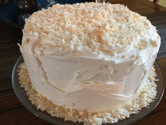 Coconut Cake With Dream Whip Frosting