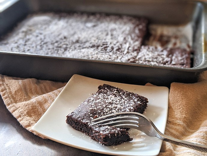 2 Ingredient Black Bean Brownies