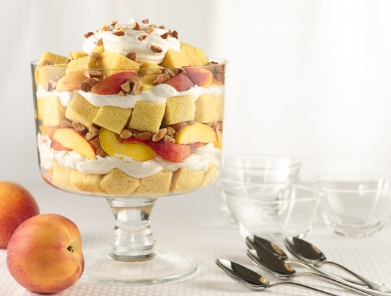 Recipe Peaches Amp Cr 232 Me Trifle Duncan Hines Canada 174
