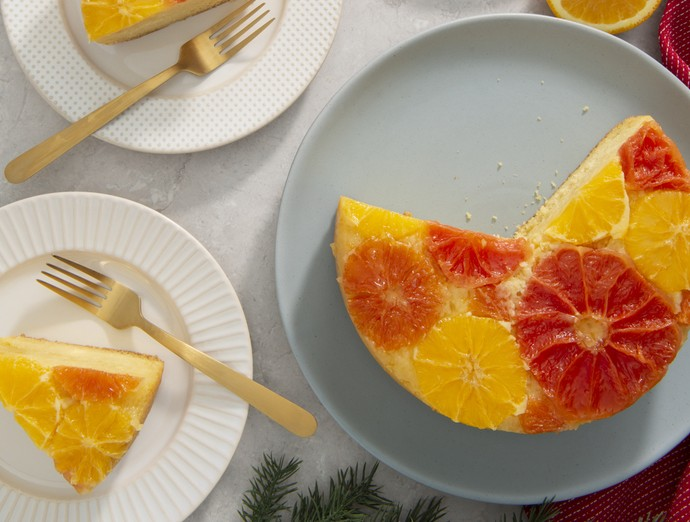 Upside Down Winter Citrus Cake
